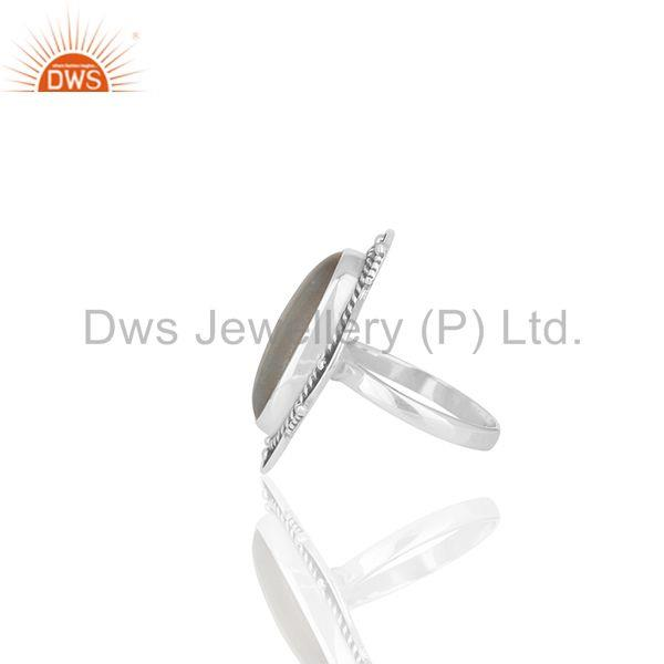 Suppliers Oxidized 925 Sterling Silver Moonstone Customized Ring Jewelry Manufacturer