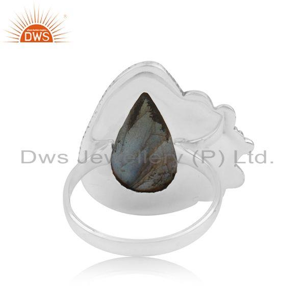Suppliers 925 Sterling Silver New Designer Labradorite Gemstone Ring Manufacturer India