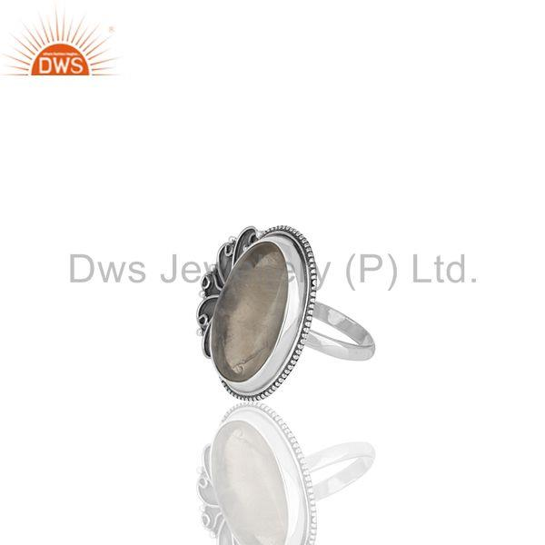 Suppliers 925 Sterling Silver Rainbow Moonstone Oxidized 925 Silver Womens Rings Jewelry