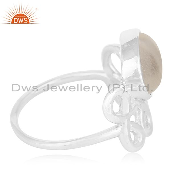 Suppliers Crystal Quartz Designer Sterling Silver Gemstone Ring Manufacturer