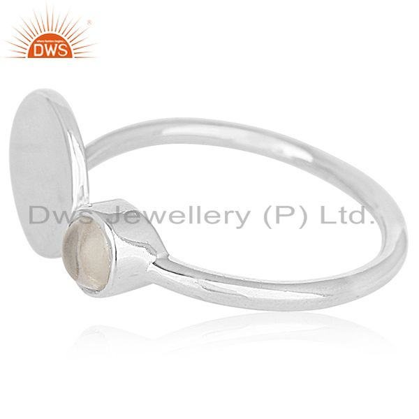 Suppliers 2017 New Design 925 Silver Crystal Adjustable Ring Wholesale Suppliers