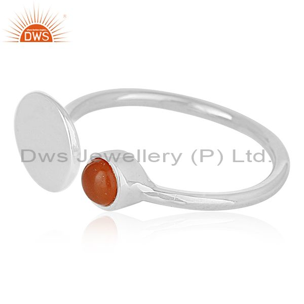 Suppliers Customized 925 Silver Gemstone Adjustable Ring Jewelry Manufacturers