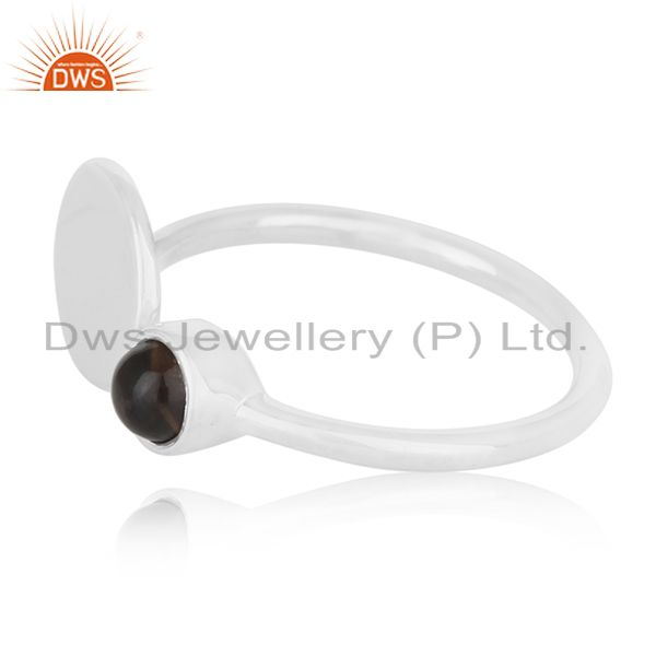 Suppliers Private Label 925 Sterling Silver Gemstone Adjustable Ring Manufacturer India