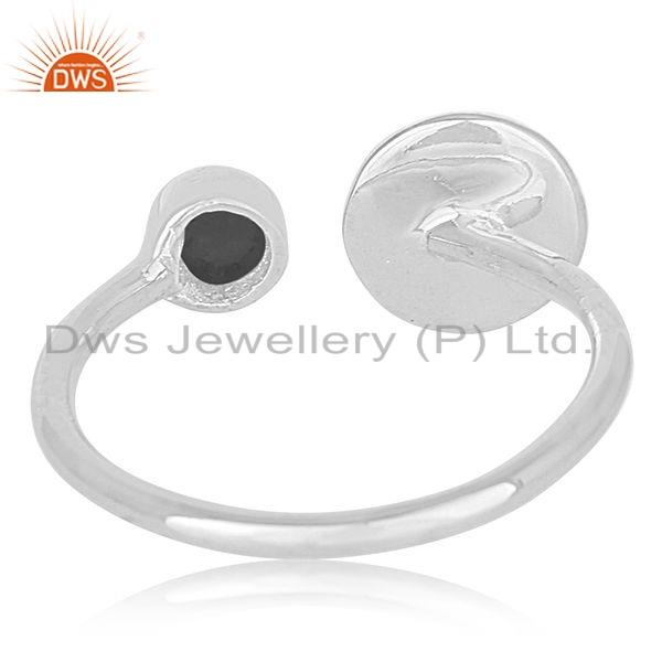 Suppliers Womens Sterling Fine Silver Natural Black Onyx Gemstone Ring Jewelry