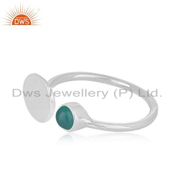 Suppliers Green Onyx Gemstone Handmade 925 Sterling Fine Silver Girls Ring Manufacturer