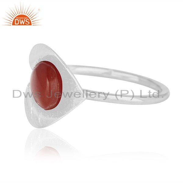 Suppliers Designer Floral Sterling Silver Private Label Ring Manufacturer from India