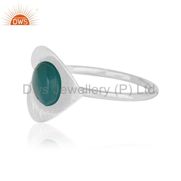 Suppliers Designer 925 Silver Green Onyx Gemstone Private Label Ring Jewelry Wholesale