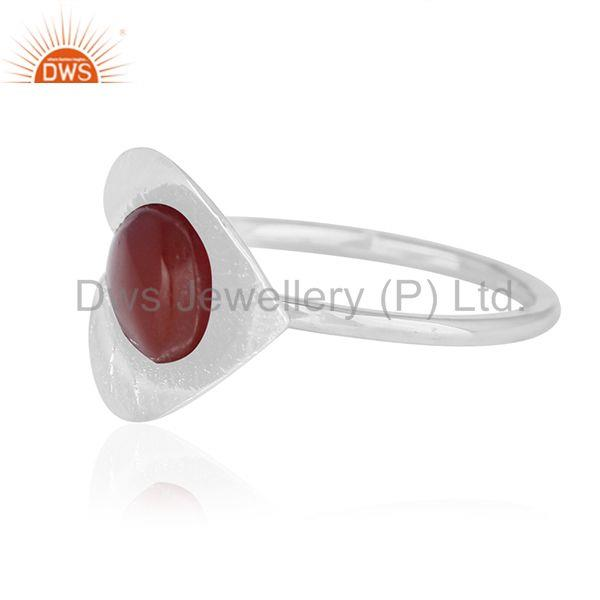 Suppliers Red Onyx Gemstone New Designer Sterling Silver Ring Wholesale Suppliers