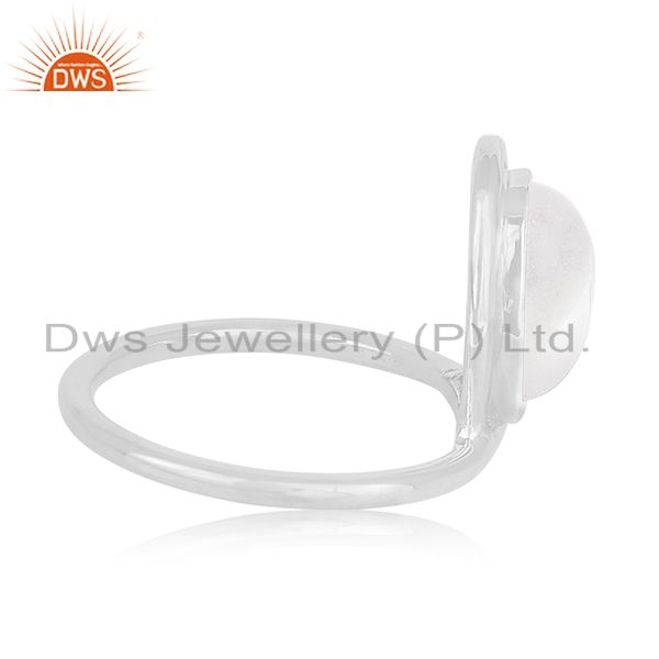 Suppliers Natural Rainbow Moonstone 925 Sterling Silver Handmade Ring Manufacturer