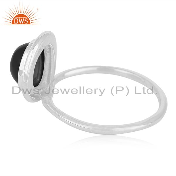 Suppliers Shop Sterling Silver Black Onyx Gemstone Custom Ring Manufacturer India