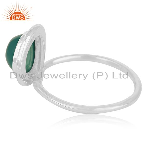 Suppliers Green Onyx Gemstone Sterling Silver Ring Buy Womens Jewelry