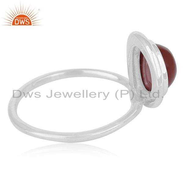 Suppliers Red Onyx Gemstone Sterling Silver Ring Private Label Jewelry For Brands
