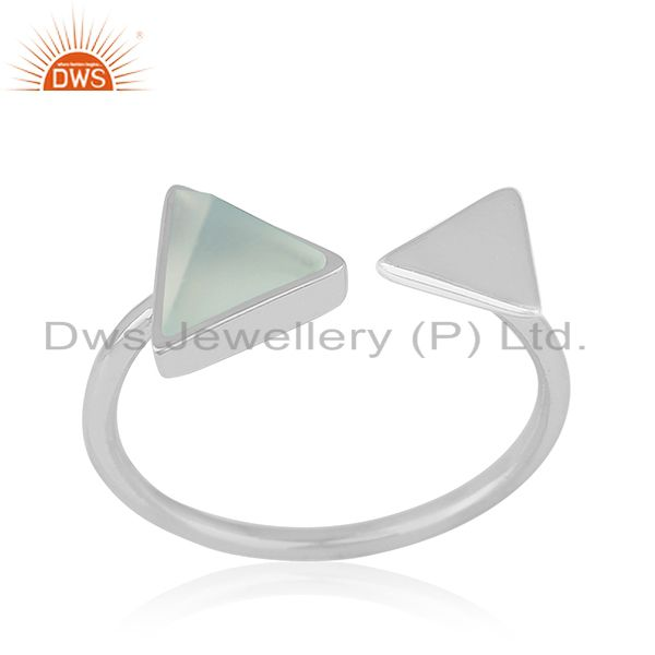 Suppliers Multi Triangle Adjustable 925 Silver Gemstone Ring Jewelry For Women