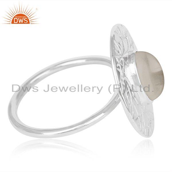 Suppliers Hancrafted 925 Silver Crystal Quartz Cocktail Ring Manufacturer