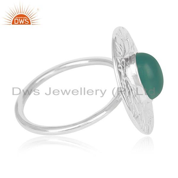 Suppliers Green Onyx Gemstone 925 Silver Handmade Cocktail Ring Manufacturers