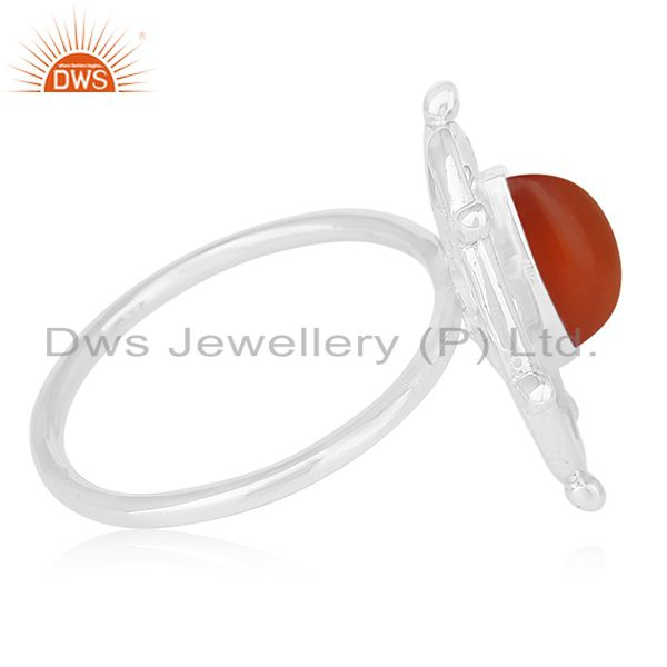 Suppliers Chalcedony Gemstone Designer 925 Sterling Silver Ring Manufacturers India