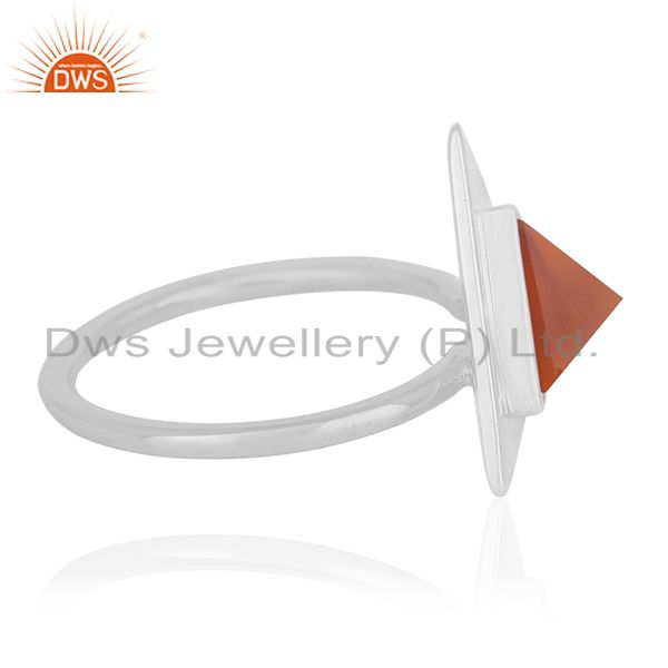 Suppliers Handmade Sterling 92.5 Silver Gemstone Girls Ring Jewelry Wholesale