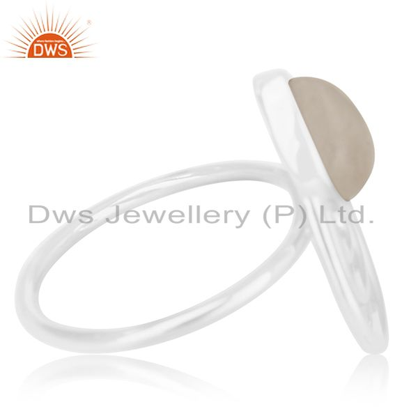 Suppliers Rainbow Moonstone 925 Silver Private Label Ring Manufacturer Jaipur