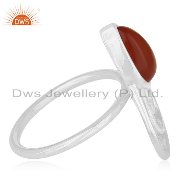 Suppliers New Designer 925 Silver Chalcedony Gemstone Ring Supplier for Brands