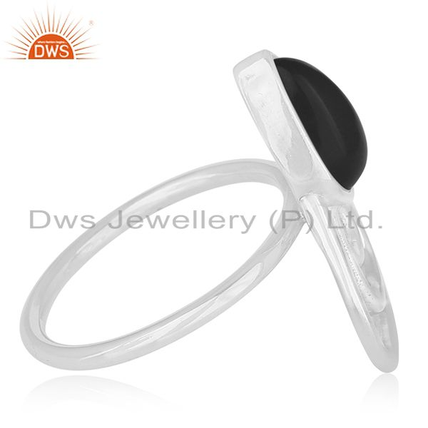 Suppliers Black Onyx Gemstone 925 Silver Customized Ring Manufacturer Jaipur