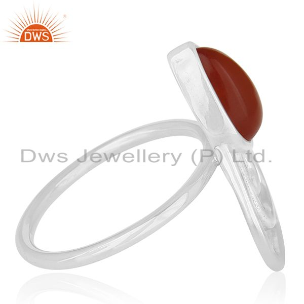 Suppliers Red Onyx Gemstone 925 Silver Customized Ring Jewelry Manufacturers
