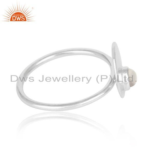 Suppliers Crystal Quartz 925 Sterling Silver Stackable Ring Jewelry Manufacturer