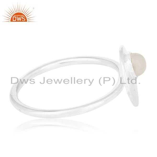 Suppliers Handmade Sterling Silver Rainbow Moonstone Ring Manufacturers