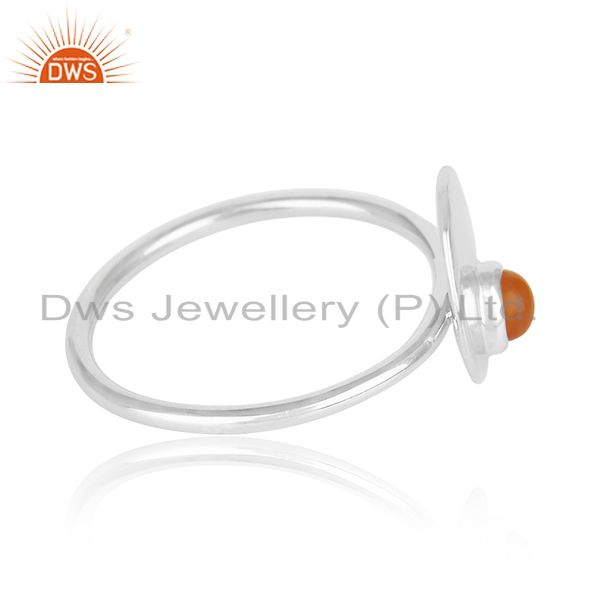 Suppliers Handmade Fine Sterling Silver Chalcedony Gemstone Ring Manufacturers
