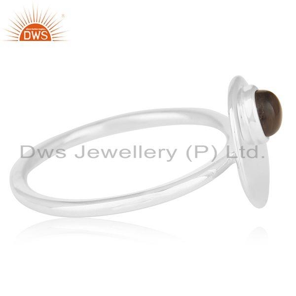 Suppliers Bezel Set Gemstone 925 Silver Handmade Quartz Ring Wholesale Supplier from India
