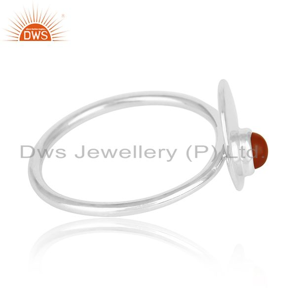 Suppliers Red Onyx Gemstone 925 Silver Ring Manufacturer of Custom Jewelry