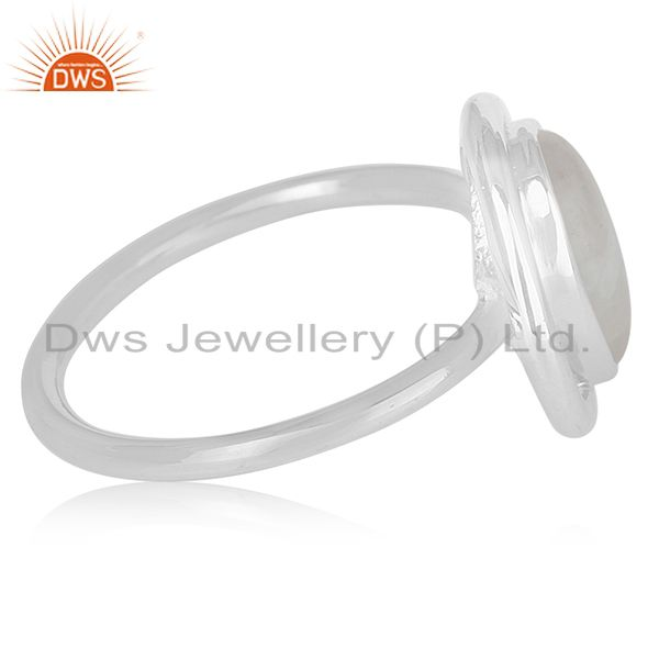 Suppliers Rainbow Moonstone Sterling Silver Designer Ring Wholesale Jewelry