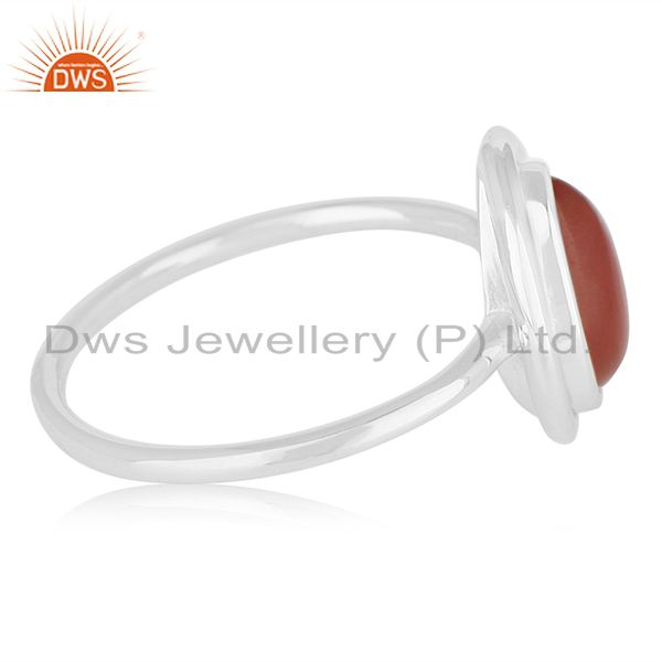 Suppliers Carnelian Chalcedony Gemstone 925 Silver Handmade Ring Suppliers