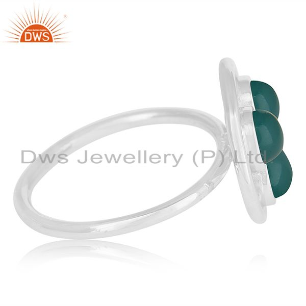 Suppliers Green Onyx Gemstone 925 Sterling Silver Ring Manufacturer of Custom Jewelry