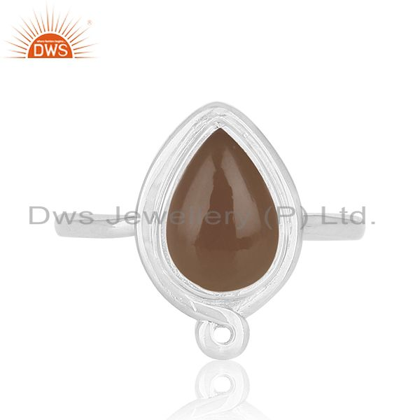 Suppliers Private Label Smoky Quartz 925 Silver Ring Jewellery Manufacturers