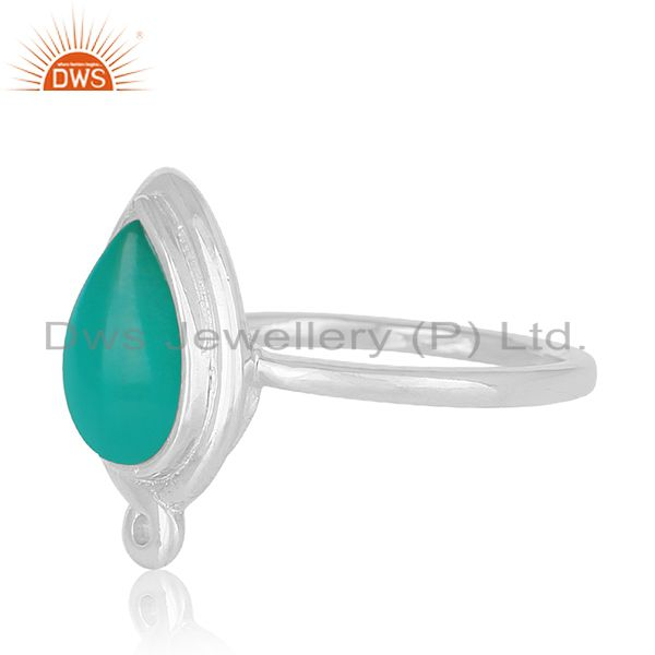 Suppliers Green Onyx Gemstone Sterling Silver Designer Ring Manufacturer Jaipur