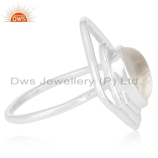 Suppliers Crystal Quartz Sterling Silver Private Label Ring Manufacturer Jaipur