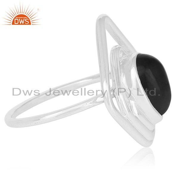 Suppliers Black Onyx Gemstone 925 Sterling Silver Ring Jewelry Manufacturer