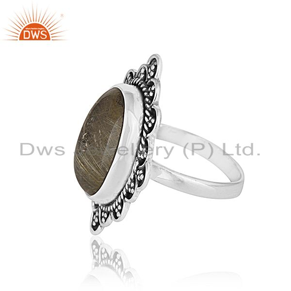 Suppliers Golden Gemstone 925 Silver Ring Jewelry Manufacturer for Designer From India