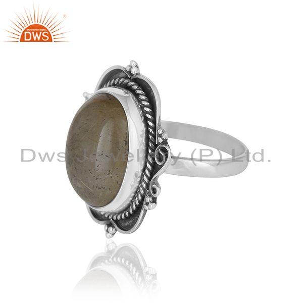 Suppliers Golden Rutile Gemstone 925 Silver Ring Jewelry Manufacturer for Brands