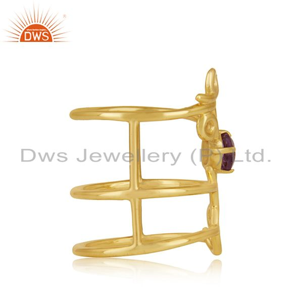 Suppliers Gold Plated Sterling Silver Initial Love Customized Ring Manufacturer