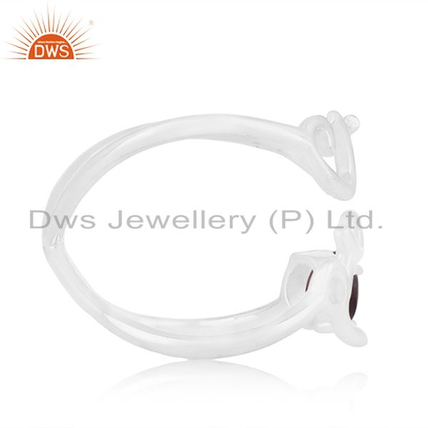 Suppliers Initial Love 925 Silver Amethyst Gemstone Ring Jewelry Manufacturer