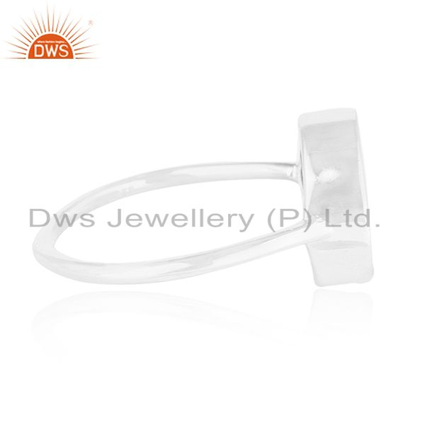 Suppliers Fine 925 Silver Black Onyx Gemstone Peace Sign Custom Ring Manufacturer India