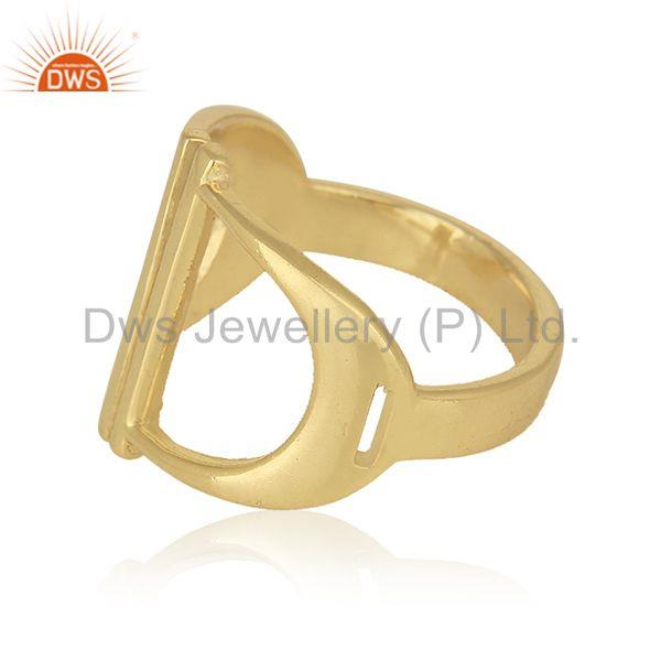 Suppliers New Designer Sterling 92.5 Silver Gold Plated Ring Wholesale Suppliers