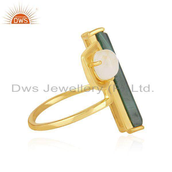 Suppliers Gold Plated 925 Sterling Silver Multi Gemstone Ring Wholesale Suppliers