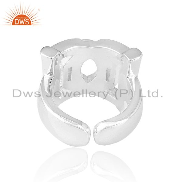 Suppliers Solid 925 Sterling Silver Designer Unisex Ring Jewelry Manufacturer from India