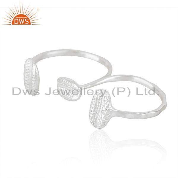Suppliers Wholesale Fine Silver Designer Double Finger Ring Jewelry
