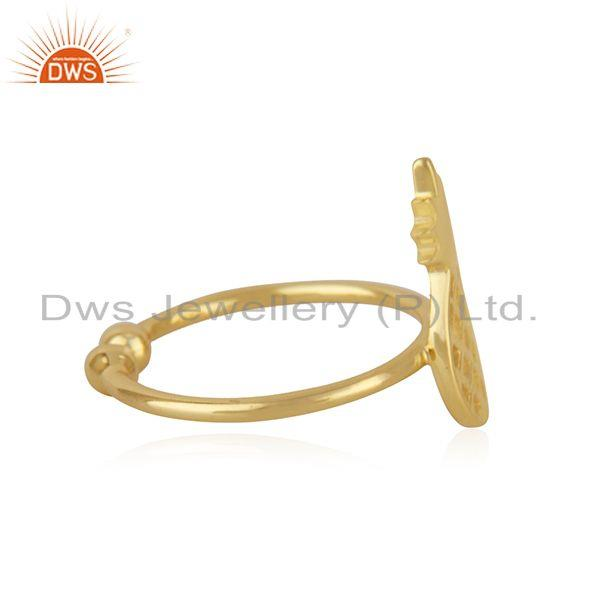 Suppliers New Yellow Gold Plated Silver Pineapple Design Adjustable Ring Jewelry