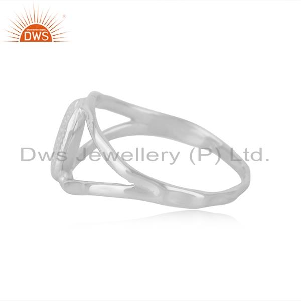 Suppliers Indian Handcrafted Fine 92.5 Sterling Silver Ring Manufacturer in India