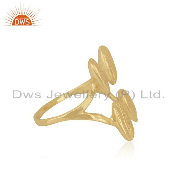 Suppliers Gold Plated Handcrafted Brass Fashion Designer Ring Jewelry Manufacturer