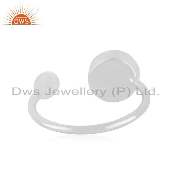 Suppliers Blue Chalcedony Gemstone Sterling Fine Silver Trendy Ring Manufacturer Jaipur
